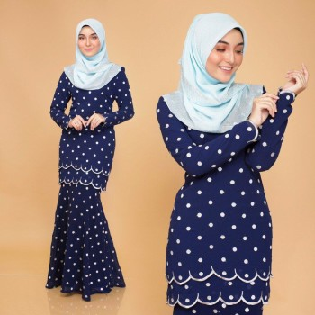 KURUNG MODEN POLKADOT OLIVE - moff collection