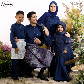 KURUNG TYARA NAVY BLUE - moff collection