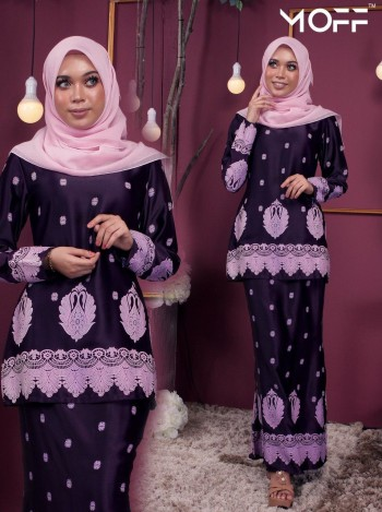 KURUNG SAREE SONIA DUSTY PURPLE - moff collection