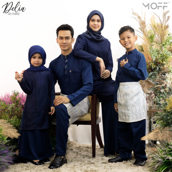 KURUNG DELIA NAVY BLUE - moff collection