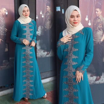 JUBAH RATU TEAL BLUE - moff collection