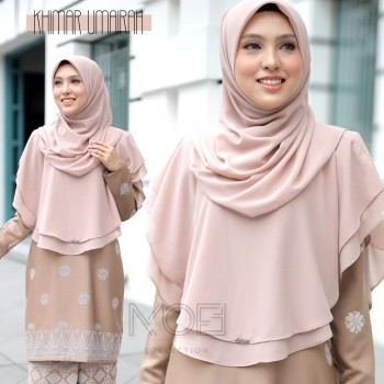 KHIMAR UMAIRA DUSTY PINK - moff collection