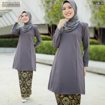 KURUNG LOLITA DARK GREY - moff collection