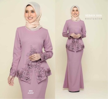 KEBAYA YAYA DUSTY PURPLE - moff collection