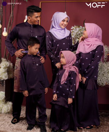 KURUNG MODEN JELEETA DARK PURPLE  - moff collection