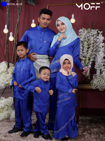 KURUNG GALAU ROYAL BLUE  - moff collection
