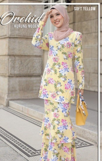 KURUNG MODEN ORCHID SOFT PINK - moff collection
