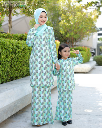 Qairina Kids In Emerald Green - moff collection