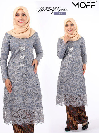 KURUNG BENANG EMAS NAVY BLUE - moff collection