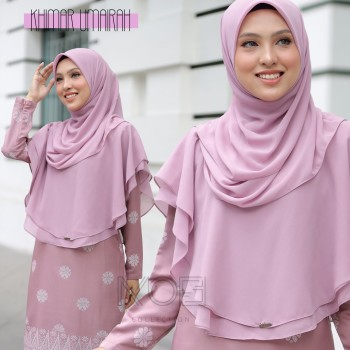 KHIMAR UMAIRA BABY PINK - moff collection