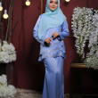 KURUNG GALAU SKY BLUE  - moff collection