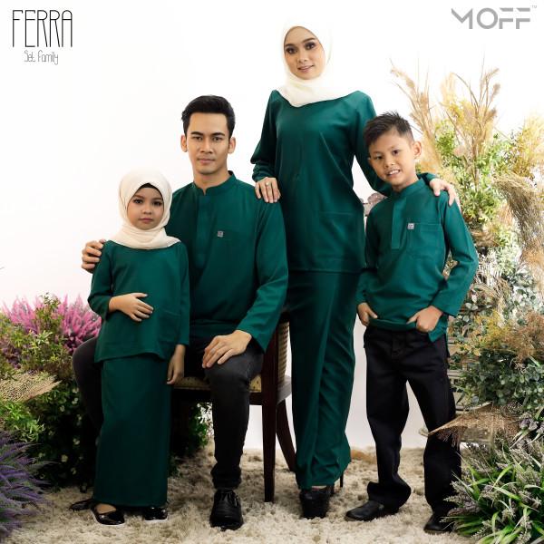KURUNG KEDAH FERRA EMERALD GREEN - moff collection
