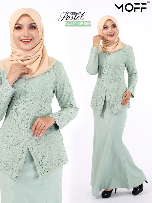 KURUNG MODEN PASTEL MINT GREEN - moff collection