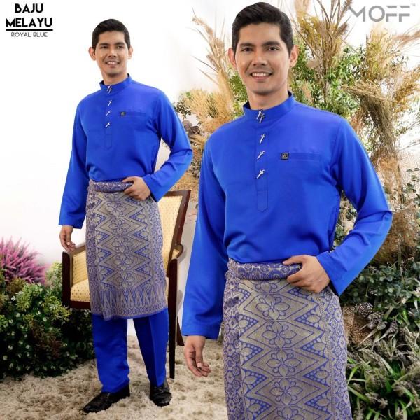 BAJU MELAYU MODEN ROYAL BLUE - moff collection