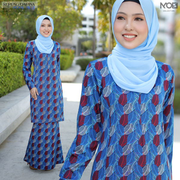 KURUNG QAIRINA ROYAL BLUE - moff collection
