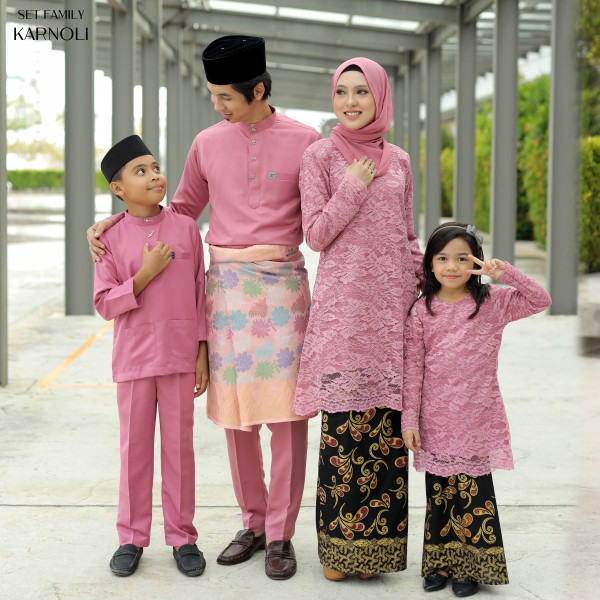 SET FAMILY KARNOLI DUSTY PINK - moff collection