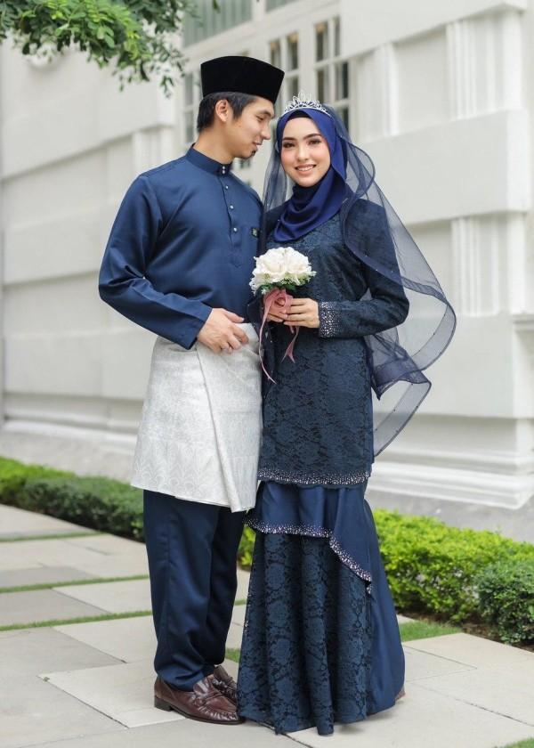SET COUPLE ZINIRA NAVY BLUE - moff collection