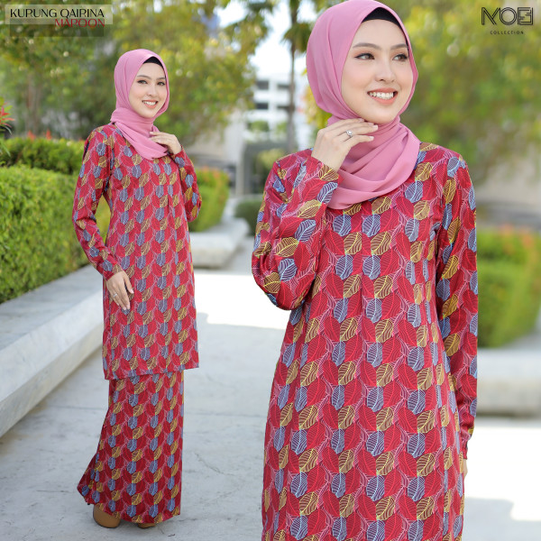 KURUNG QAIRINA MAROON - moff collection