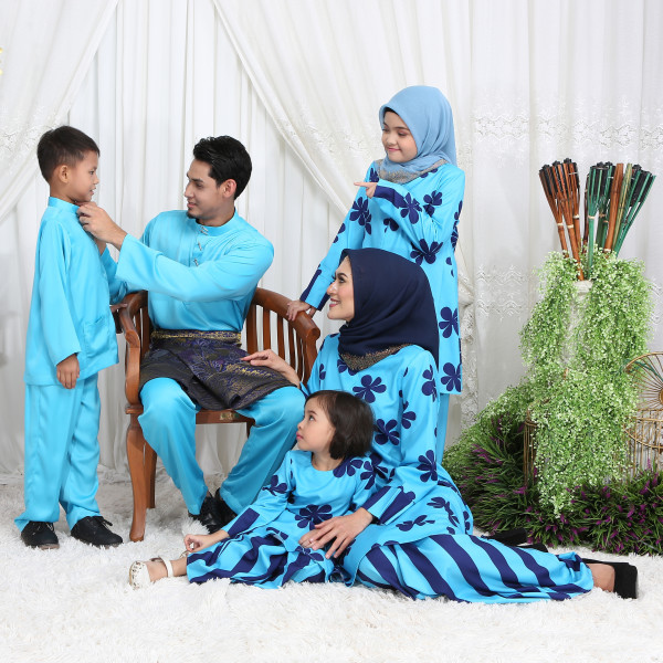 KURUNG RIAU RETRO BLUE - moff collection