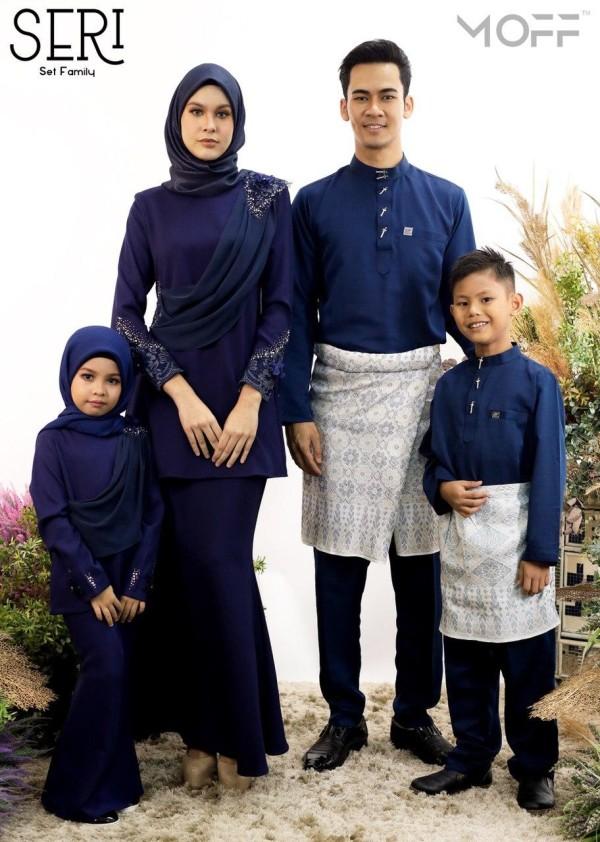 KURUNG SERI NAVY BLUE - moff collection