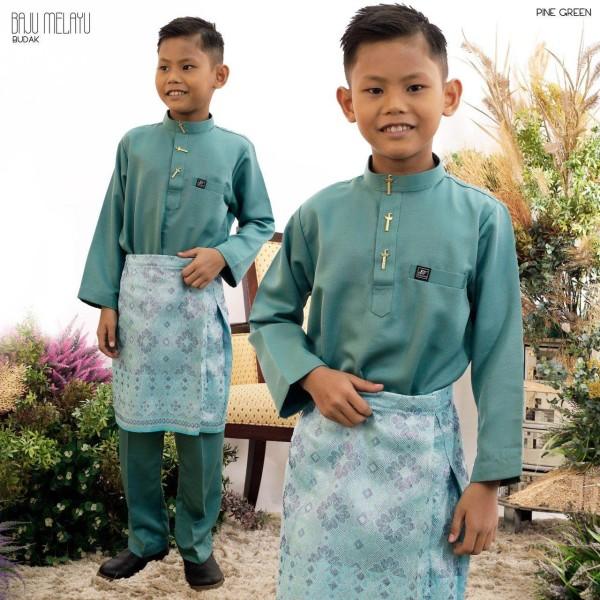 BAJU MELAYU BUDAK PINE GREEN - moff collection