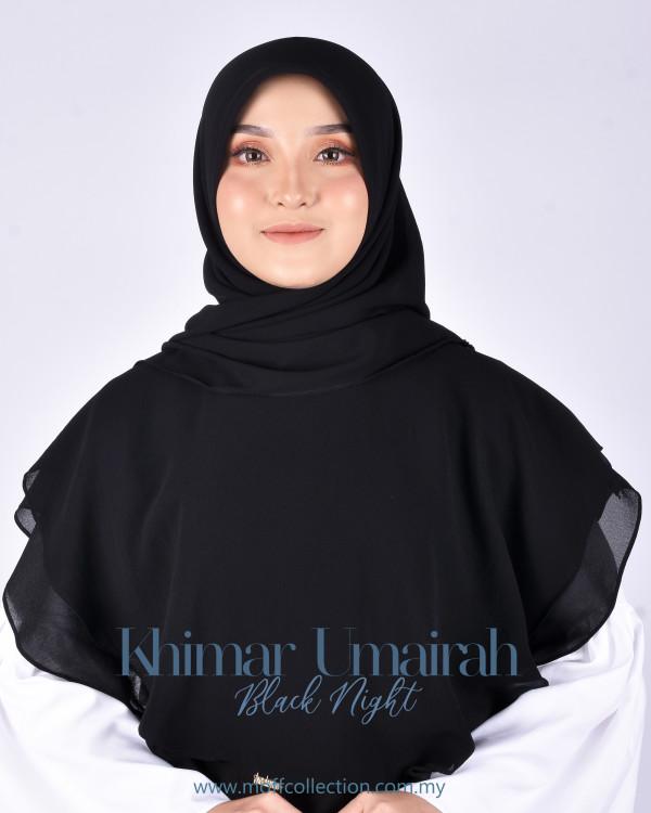 Khimar Umairah In Black Night  - moff collection