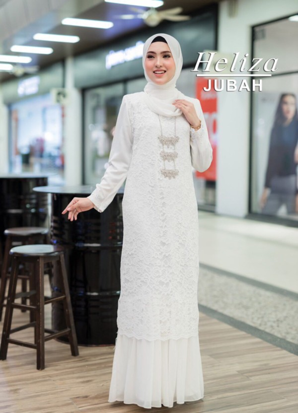 JUBAH HELIZA WHITE - moff collection