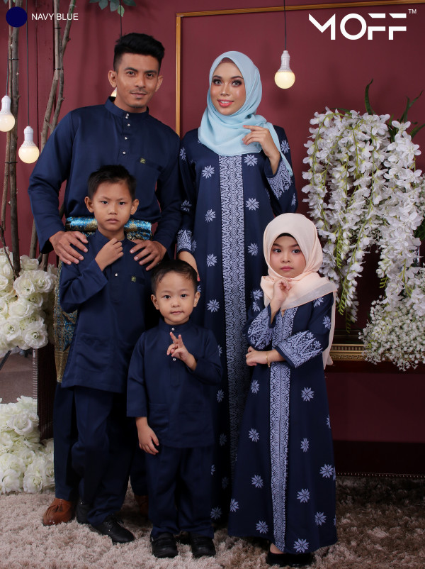 ABAYA SONGKET STARLY NAVY BLUE - moff collection