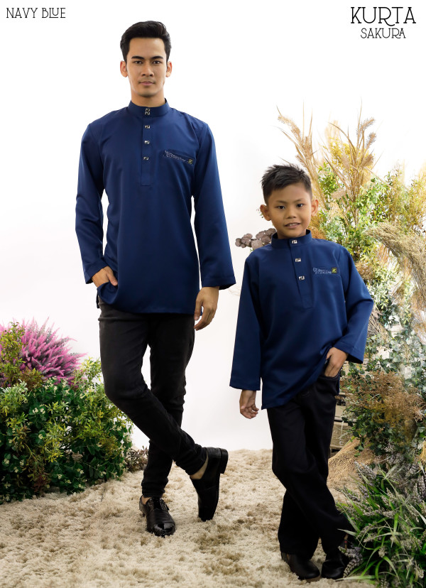 KURTA RAYYAN NAVY BLUE - moff collection