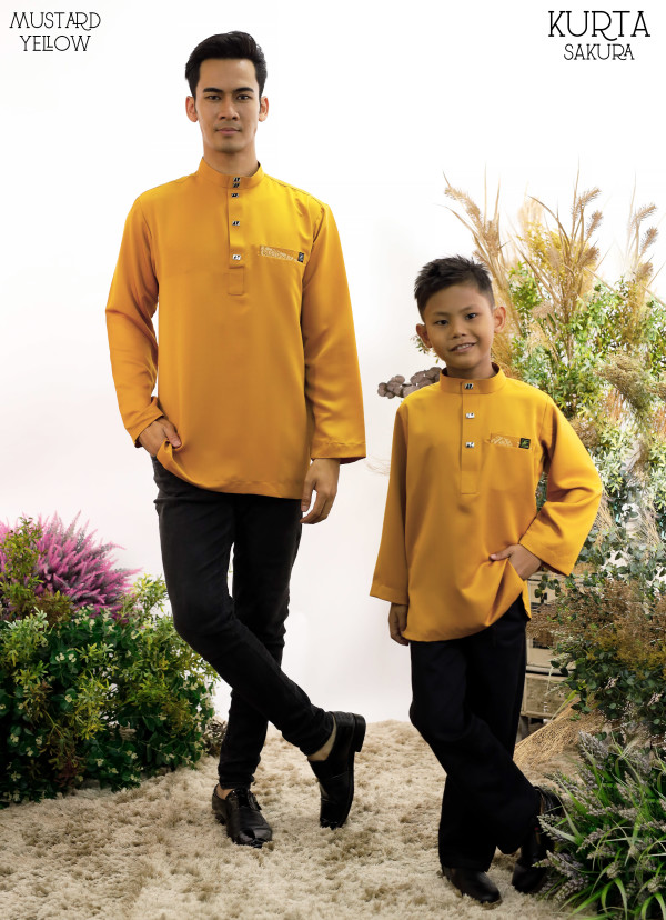 KURTA RAYYAN MUSTARD - moff collection