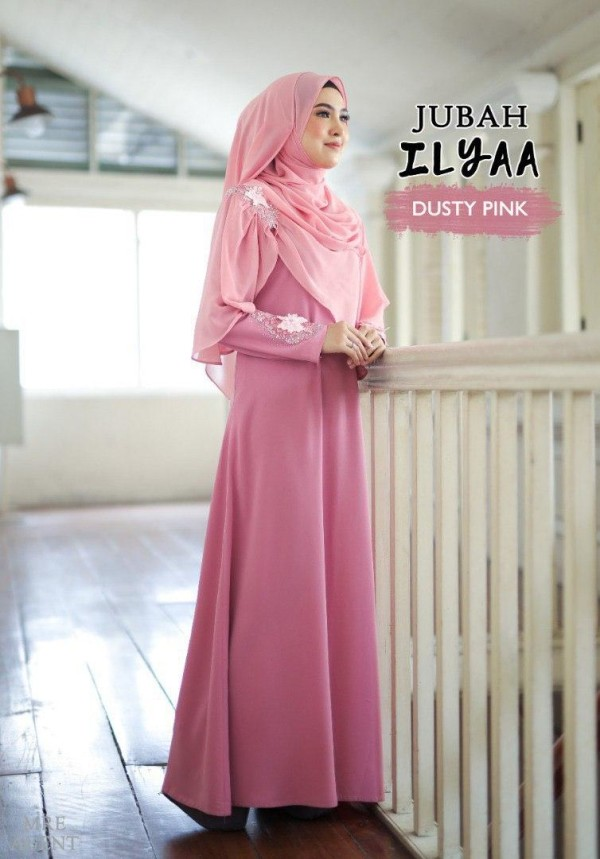 JUBAH ILYAA DUSTY PINK - moff collection