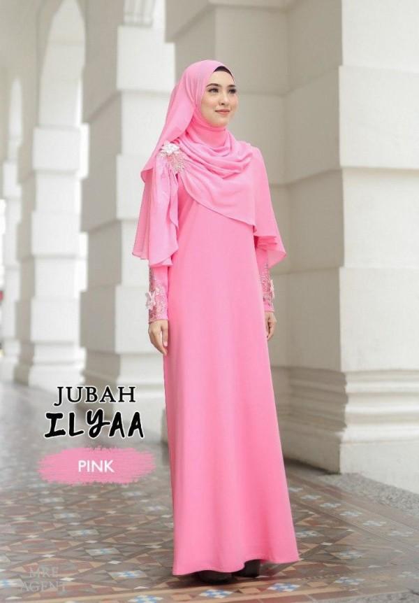 JUBAH ILYAA PINK - moff collection