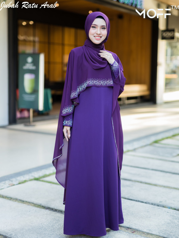JUBAH RATU ARAB PURPLE - moff collection