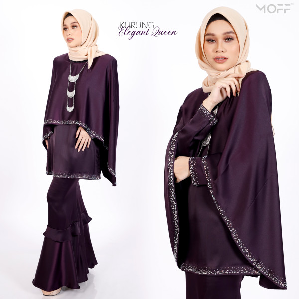 KURUNG BEAUTY QUEEN DARK PURPLE - moff collection