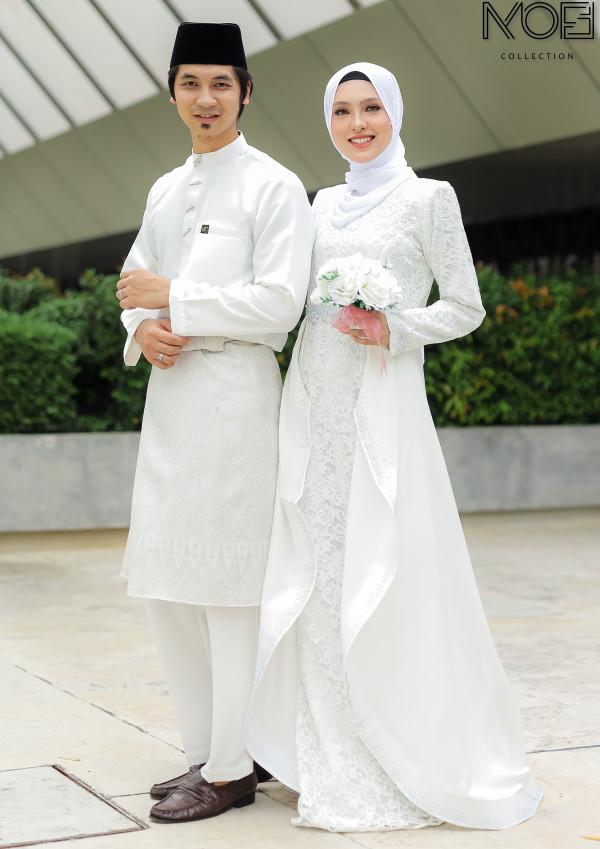 JUBAH QAISARA WHITE - moff collection