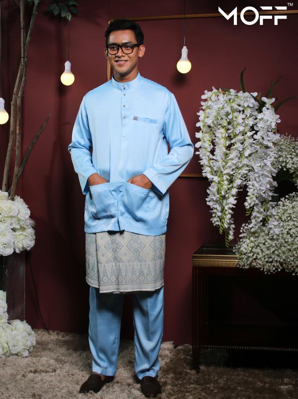 BAJU MELAYU BABY BLUE - moff collection