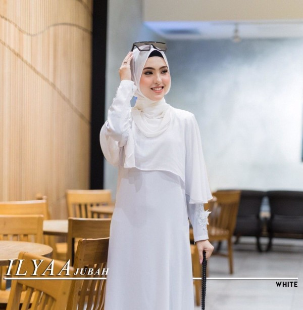 JUBAH ILYAA WHITE - moff collection