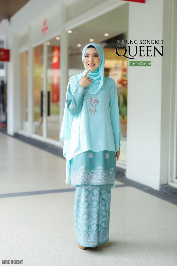 KURUNG QUEEN PINE GREEN - moff collection
