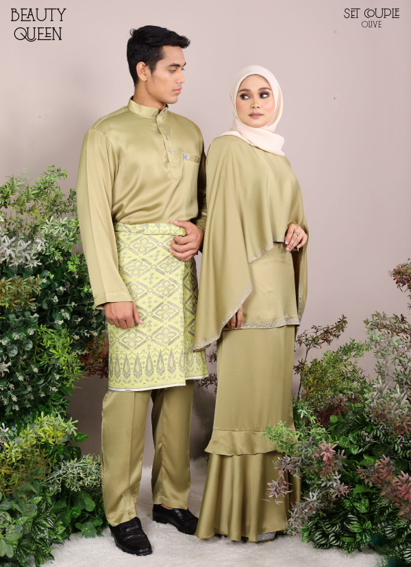 KURUNG BEAUTY QUEEN OLIVE - moff collection