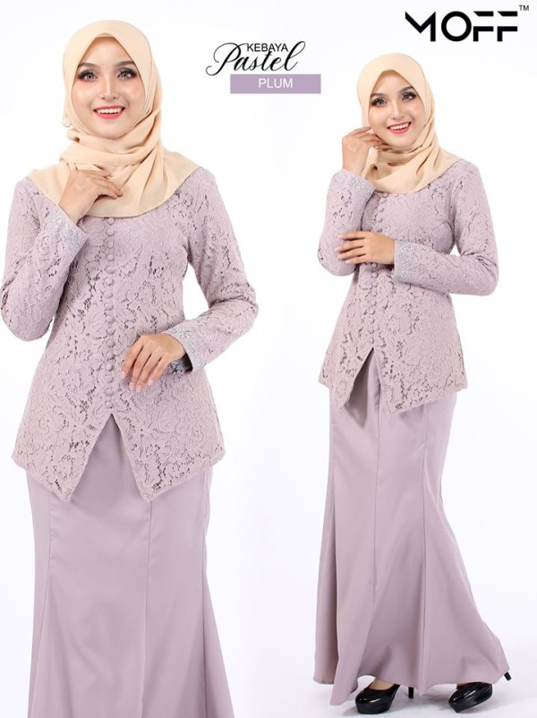 KURUNG MODEN PASTEL DUSTY PURPLE - moff collection
