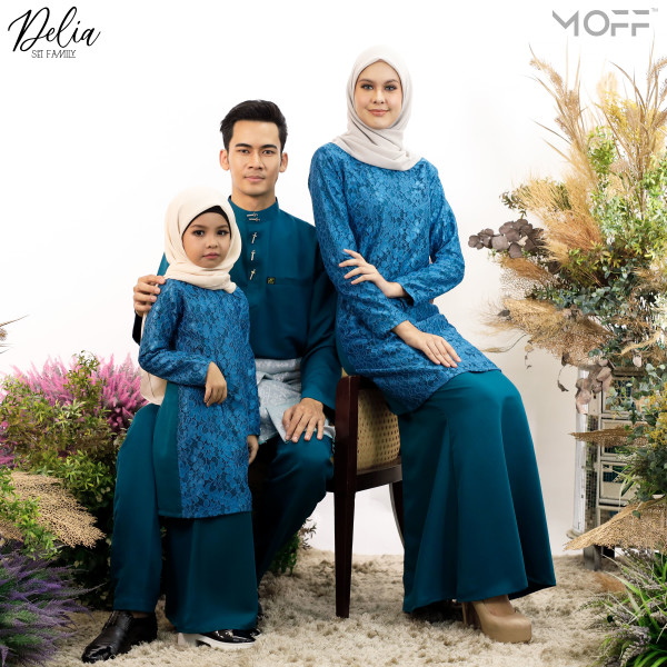 KURUNG DELIA TEAL BLUE - moff collection