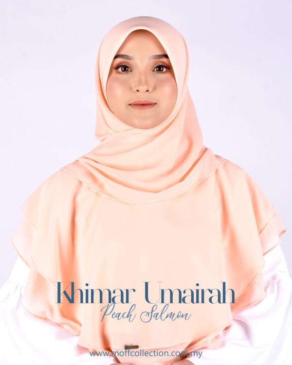 Khimar Umairah In Peach Salmon - moff collection