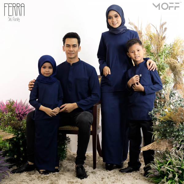KURUNG KEDAH FERRA NAVY BLUE - moff collection