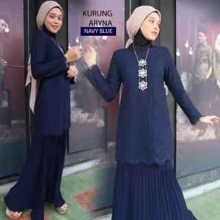 KURUNG MODEN ARYNA NAVY BLUE - moff collection