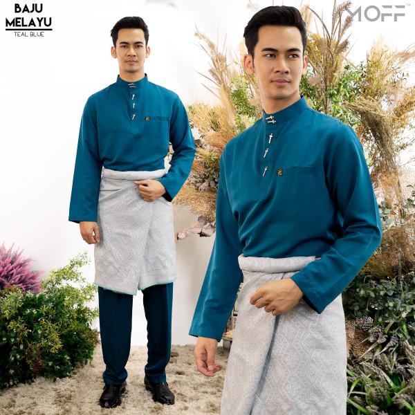 BAJU MELAYU MODEN TEAL BLUE - moff collection