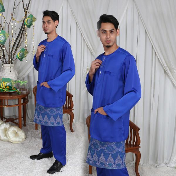 BAJU MELAYU TELUK BELANGA ROYAL BLUE - moff collection
