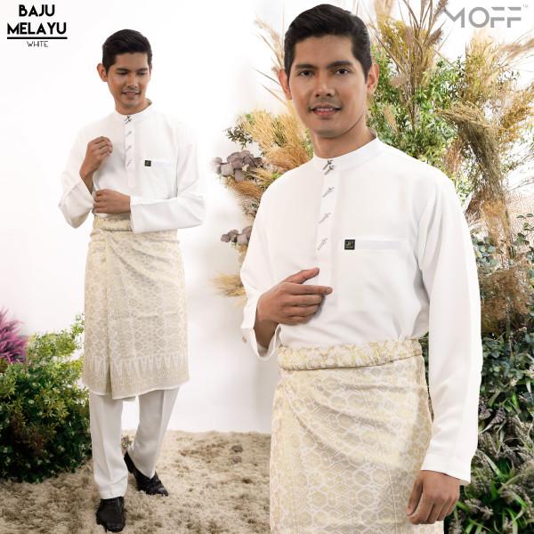 BAJU MELAYU MODEN WHITE - moff collection