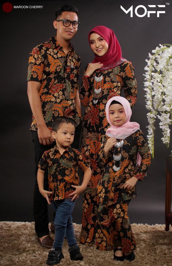 KEBAYA MAYANG SARI MAROON CHERRY - moff collection