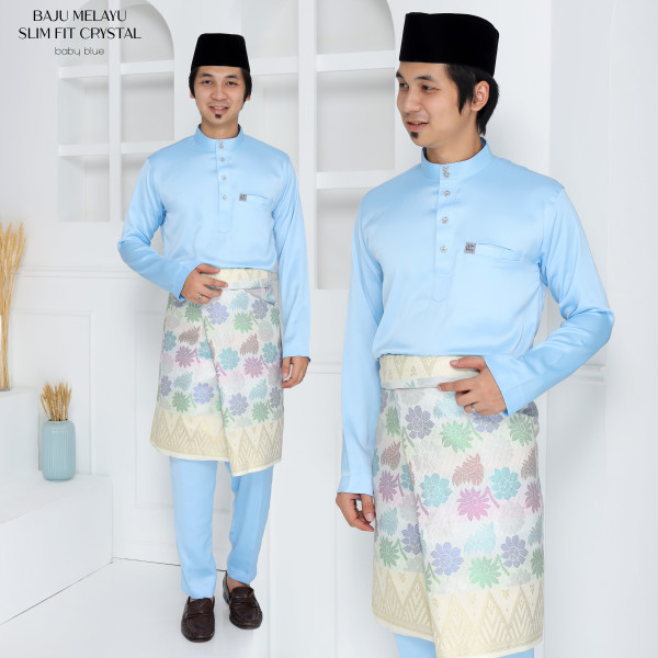 SLIM FIT CRYSTAL BABY BLUE - moff collection