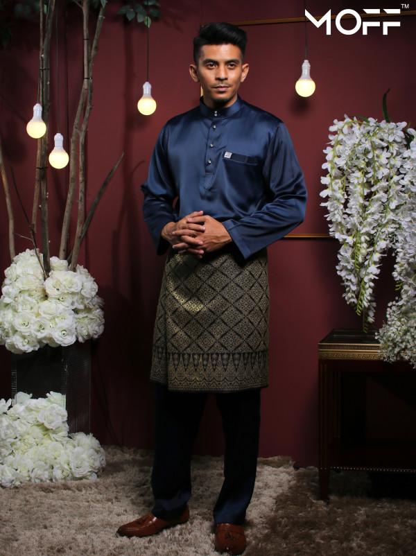 BAJU MELAYU NAVY BLUE - moff collection